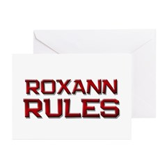 roxann rules Greeting Cards (Pk of 20)