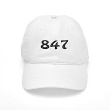 847 Area Code Baseball Baseball Cap