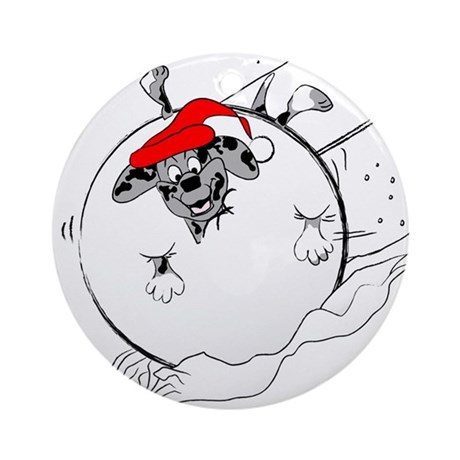 Catahoula in Snowball Ornament (Round)