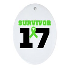 Lymphoma Survivor 17Year Oval Ornament