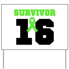 Lymphoma Survivor 16 Year Yard Sign