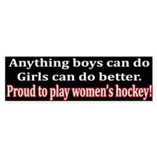 Anything Boys Can Do... Bumper Bumper Sticker