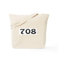 708 Area Code Tote Bag