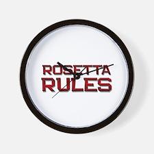 rosetta rules Wall Clock