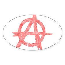 Vintage Anarachy Symbol Oval Decal