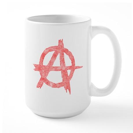 Vintage Anarachy Symbol Large Mug