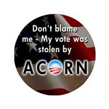 "Blame ACORN 3.5"" Button"