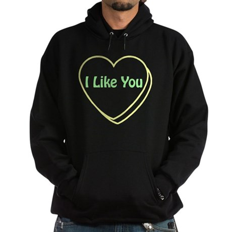 I Like You! Conversational He Hoodie (dark)