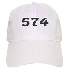 574 Area Code Baseball Baseball Cap