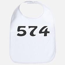 574 Area Code Bib