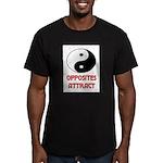 OPPOSITES ATTRACT Men's Fitted T-Shirt (dark)