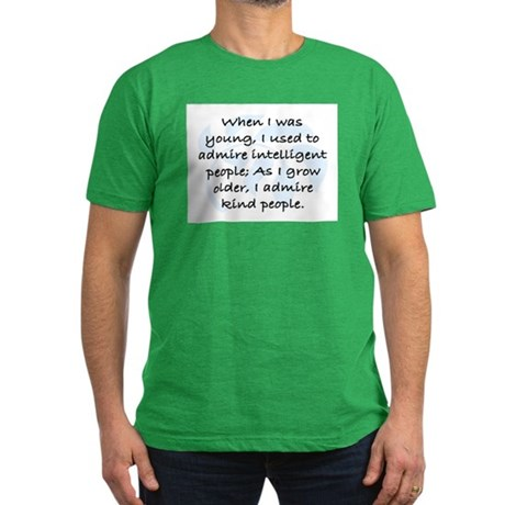 I ADMIRE KIND PEOPLE Men's Fitted T-Shirt (dark)