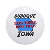 Iowa Round Ornaments
