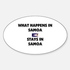 What Happens In SAMOA Stays There Oval Decal