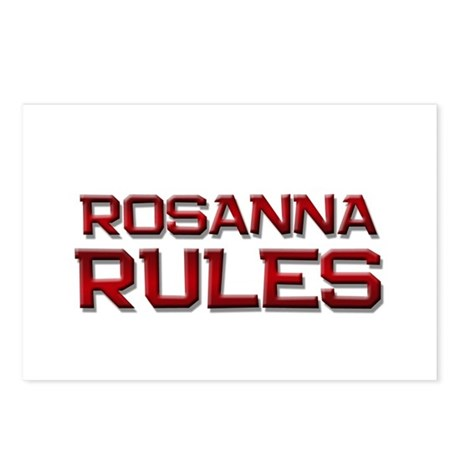 rosanna rules Postcards (Package of 8)
