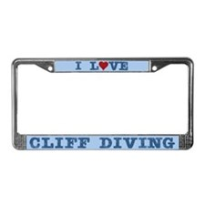 I Love Cliff Diving License Plate Frame
