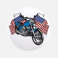 "American Biker 3.5"" Button"