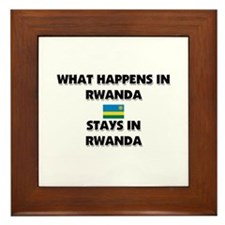 What Happens In RWANDA Stays There Framed Tile