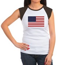 American Flag Women's Cap Sleeve T-Shirt