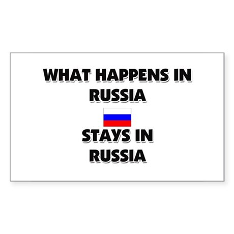 What Happens In RUSSIA Stays There Sticker (Rectan