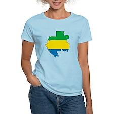 Gabon Flag Map T-Shirt