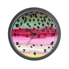 Rainbow Trout Skin Wall Clock