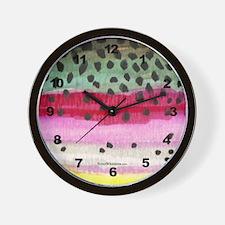 Rainbow Trout Skin Wall Clock