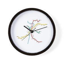 Prague Metro Map Wall Clock