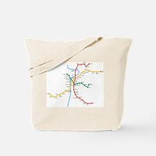 Prague Metro Map Tote Bag