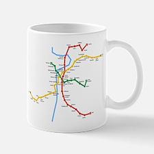 Prague Metro Map Mug