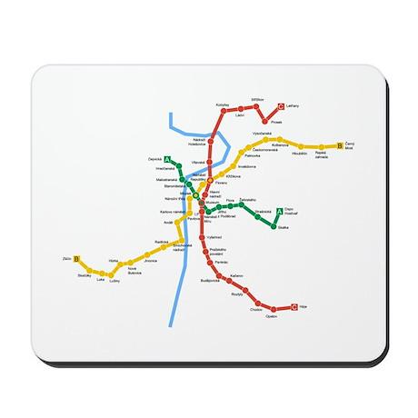 Prague Metro Map Mousepad