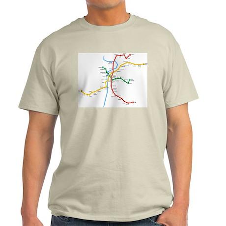 Prague Metro Map Light T-Shirt