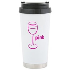 Pink Champagne Travel Coffee Mug