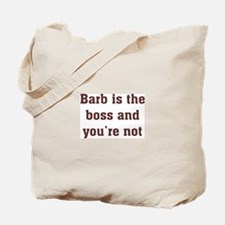 Personalized Barb Tote Bag