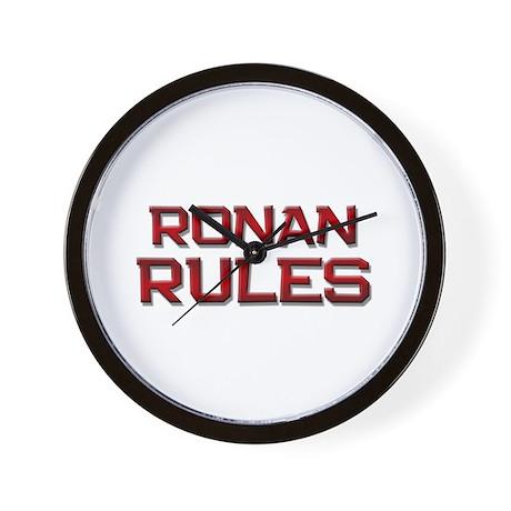 ronan rules Wall Clock
