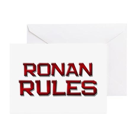 ronan rules Greeting Cards (Pk of 10)