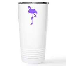 Dark Purple Flamingo Travel Mug