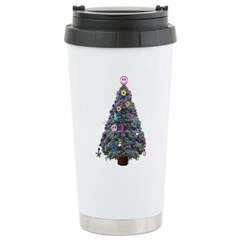 Hippie Christmas Tree Travel Mug