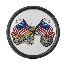 American Chopper Flames Large Wall Clock