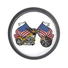 American Chopper Flames Wall Clock
