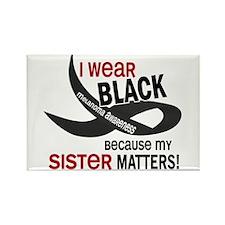 I Wear Black For My Sister 33.2 Rectangle Magnet