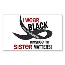 I Wear Black For My Sister 33.2 Decal