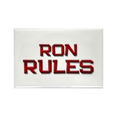ron rules Rectangle Magnet (10 pack)