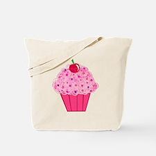 Pink Confetti Cupcake Tote Bag