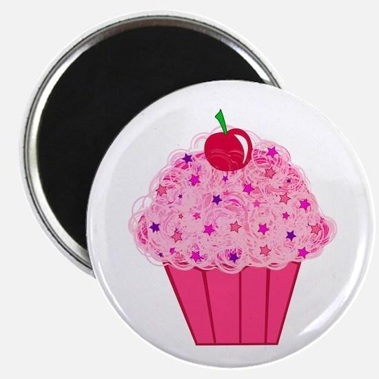 Pink Confetti Cupcake Magnet