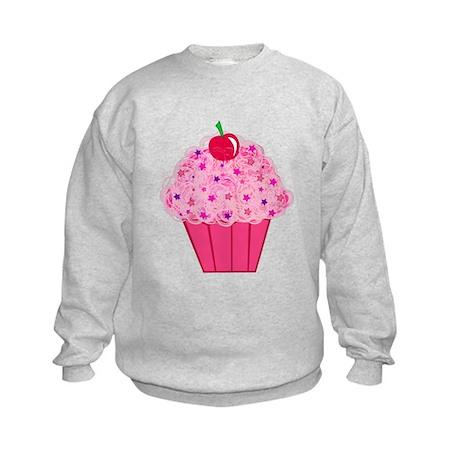 Pink Confetti Cupcake Kids Sweatshirt