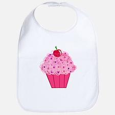 Pink Confetti Cupcake Bib