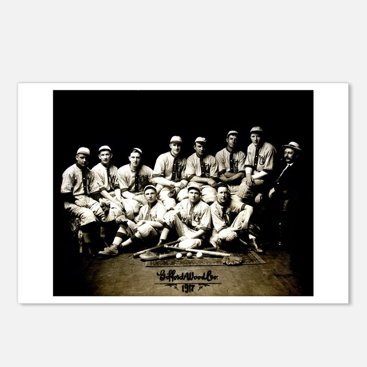 Cute Vintage baseball Postcards (Package of 8)