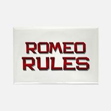 romeo rules Rectangle Magnet