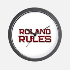 roland rules Wall Clock